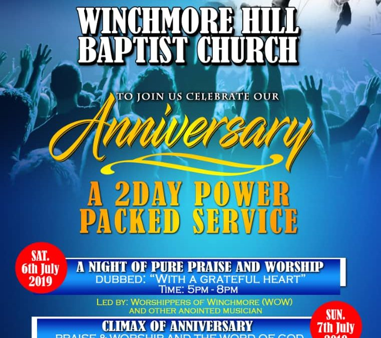 Winchmore Hill Baptist Church Anniversary